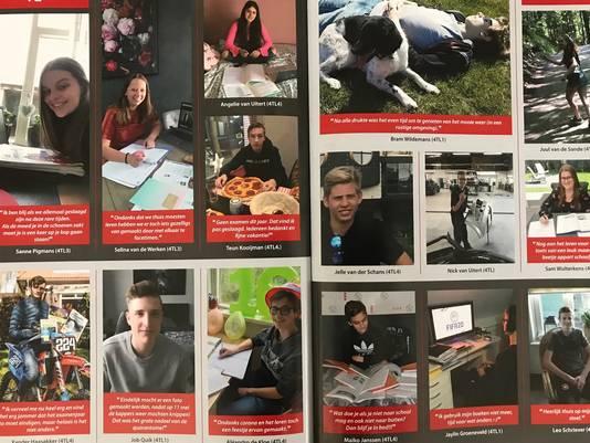 Een van de pagina's uit het jaarboek van het Cambium College.