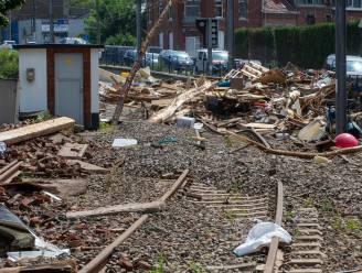 Vanaf maandag opnieuw treinverkeer op verschillende Waalse spoorverbindingen die beschadigd raakten door noodweer