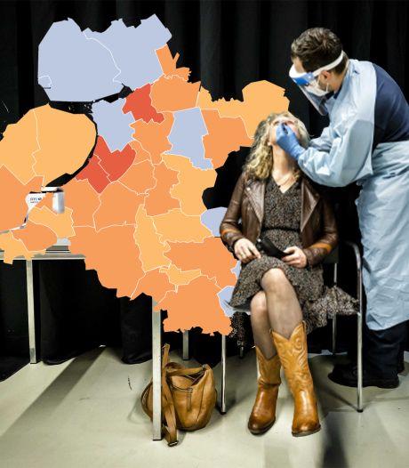 KAART   Halvering van het aantal nieuwe besmettingen in IJsselland, geen positieve tests op Urk