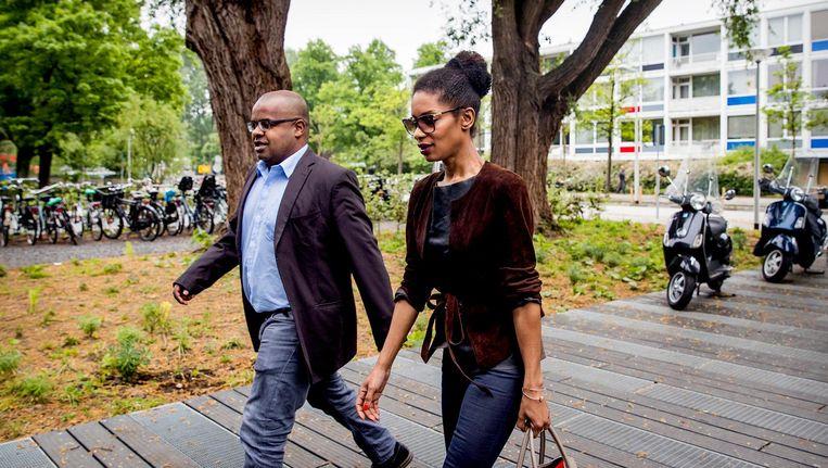 Sylvana Simons komt aan bij de rechtbank in Amsterdam. Beeld anp