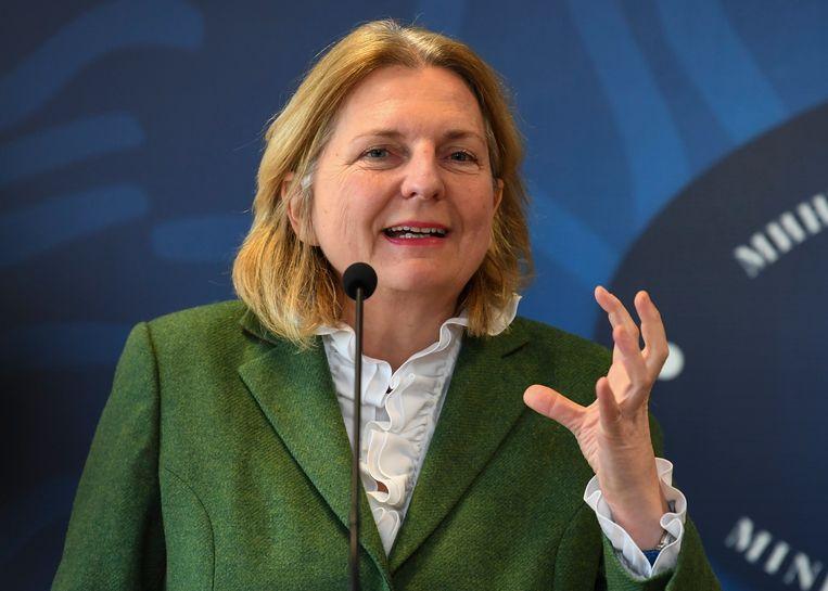 Oostenrijks minister van Buitenlandse Zaken Karin Kneissl. Beeld EPA
