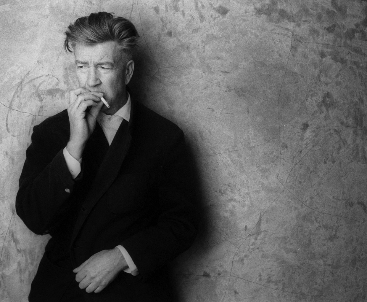 David Lynch at his studio, March 15, 2002, in Hollywood. (Photo by Chris Weeks/WireImage) Beeld WireImage
