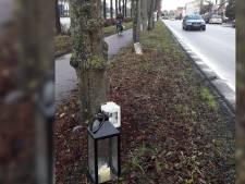 Kaarsjes langs A'damsestraatweg en op school voor overleden maaltijdbezorger (15)