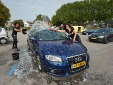 Auto's wassen in Hulsen voor uitwisseling
