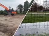 Van regenplas naar kunstgras: GA Kampen kan weer spelen