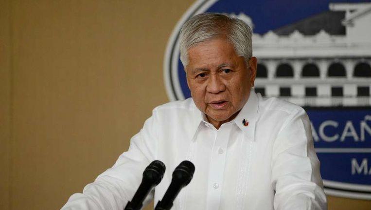De Filipijnse minister van Buitenlandse Zaken Albert del Rosario. Beeld afp