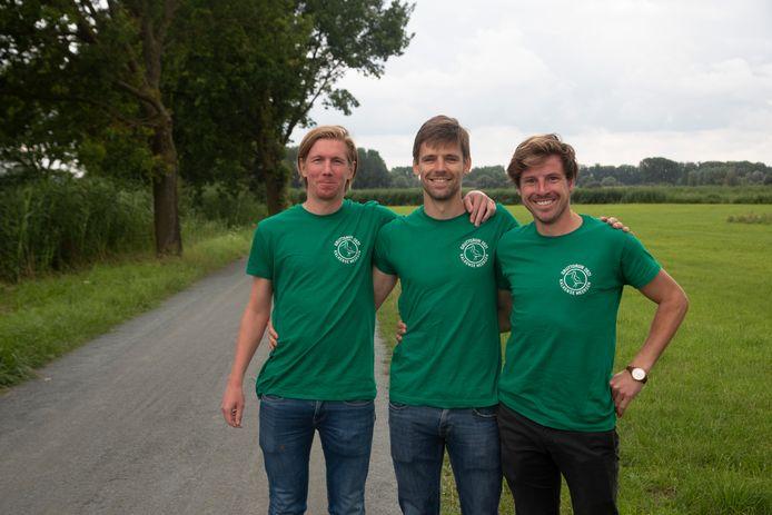 Stefaan, Ward en Lesley organiseren de eerste Gruto Run in de Kalkense Meersen.