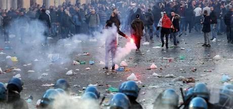 Verdachte voetbalrellen Rome boos op politie na verspreiden foto