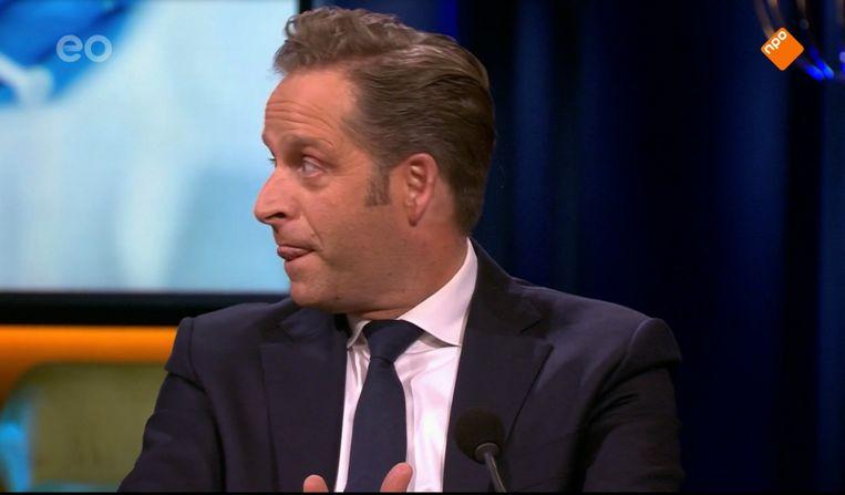 Hugo de Jonge in 'Op1' zette een Vermoeide Minister neer. Beeld Renate Van Der Bas