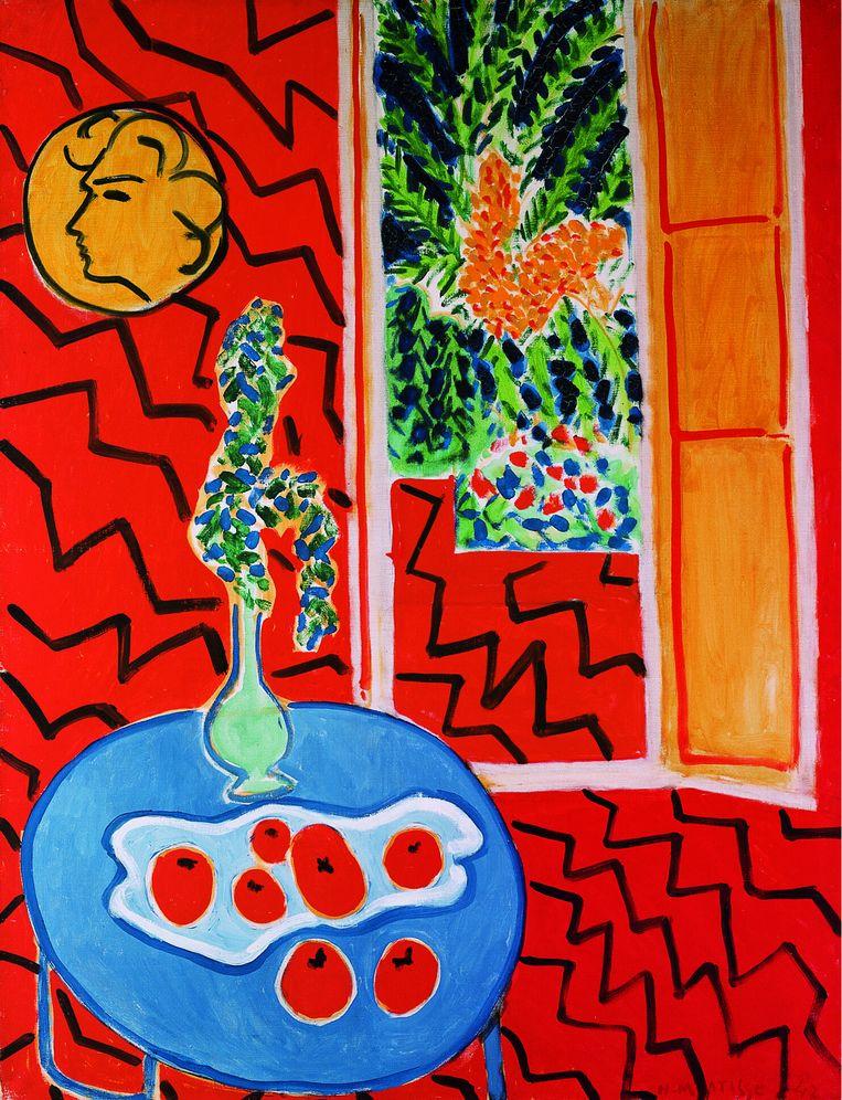 Henri Matisse: Rood interieur, stilleven op blauwe tafel, 1947. Beeld Kunstsammlung Nordrhein-Westfalen, c/o Pictoright.