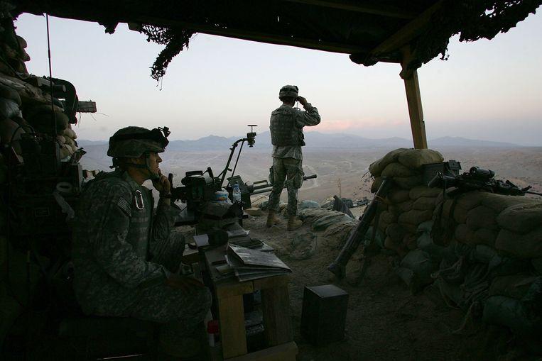 Amerikaanse troepen in Afghanistan in 2006. Beeld Getty