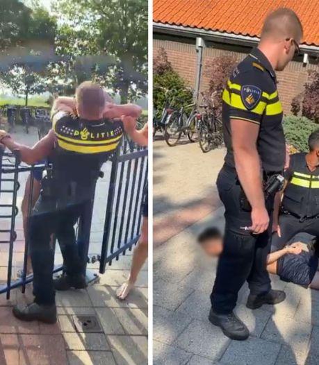 Groep keert zich tegen politie bij zwembad Almen: agent krijgt vuistslag tegen hoofd