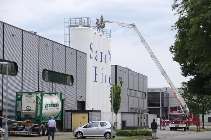 Brand bij SanoRice in Veenendaal.