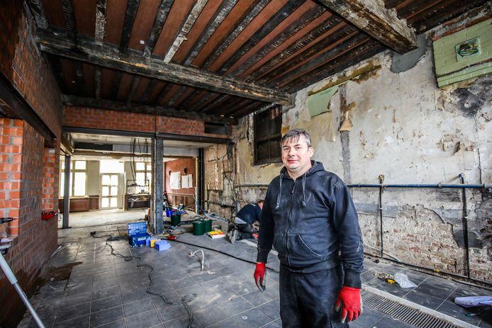 Eric Ameloot is volop aan het werk om zijn restaurant zo snel als mogelijk weer te openen.