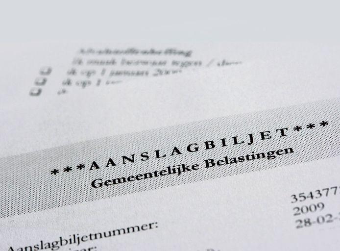 Een aanslagbiljet gemeentelijke belastingen.
