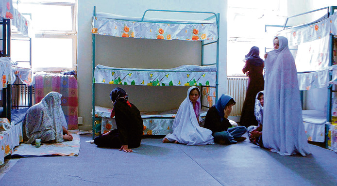 Een cel voor vrouwen in de beruchte Evin-gevangenis in Teheran.