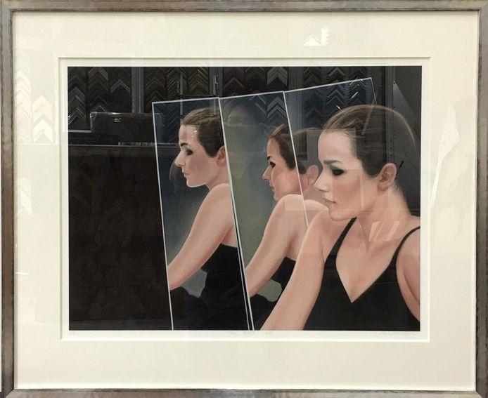 Kunstenares Ans Markus heeft een schilderij beschikbaar gesteld dat zij maakte van haar dochter.