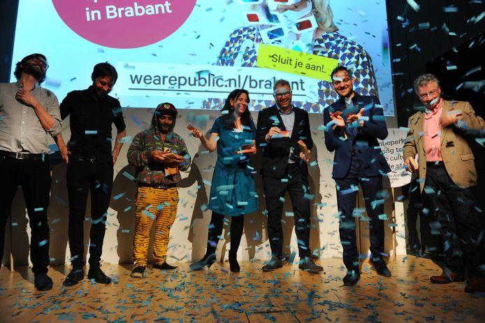 De lancering van  We Are Public op 30 maart in het Van Abbe met o.a. André Amaro en Lucas De Man.