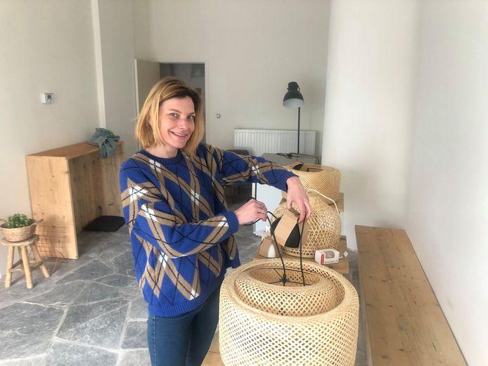 Lisa-Marie Vrancken is momenteel druk in de weer met de inrichting van haar nieuw pand aan de Grote Markt in Tienen.