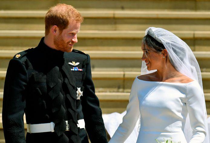 Le prince Harry et Meghan Markle le jour de leur mariage.