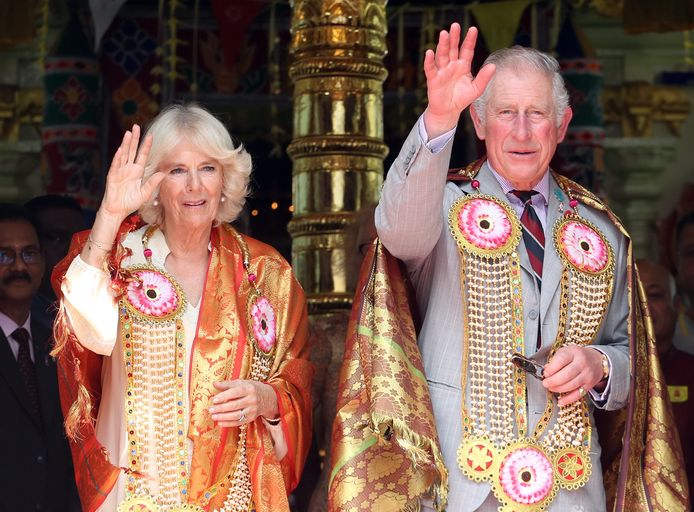 Camilla en Prins Charles in Maleisië  tijdens hun rondreis door Singapore, Maleisië, Brunei en India. Foto Chris Jackson
