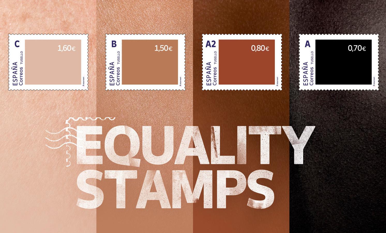 """De Spaanse postdienst Correos wou """"raciale ongelijkheid belichten en diversiteit promoten"""" met de postzegels, maar dat werd niet door iedereen zo begrepen."""