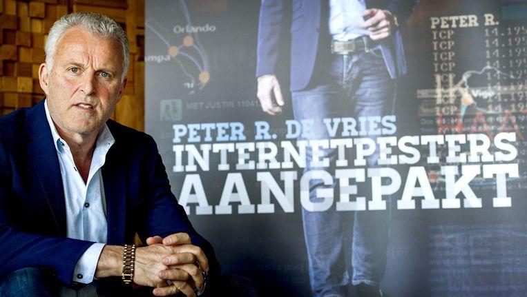 Peter R. de Vries wil dat de Tweede Kamer internetpesters gaat aanpakken. Beeld anp