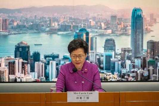 Volgens Carrie Lam, de hoogste bestuurder in Hongkong, zal de nieuwe veiligheidswet 'de stabiliteit herstellen'.