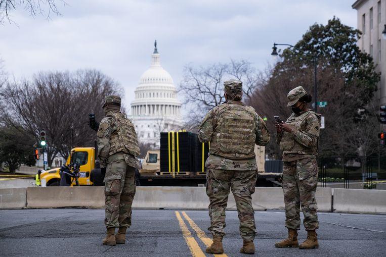 In Washington D.C. zijn ongeveer 5,000 reservisten op straat. Beeld Eline van Nes