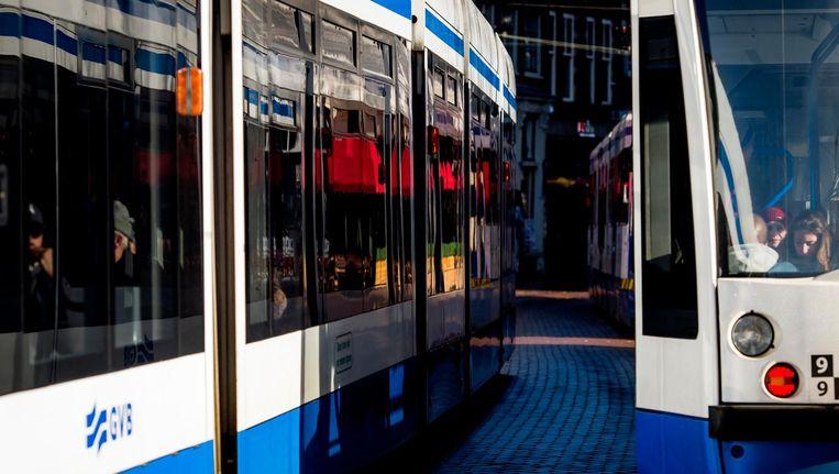 Maandagmiddag kwam een 16-jarig meisje om door een aanrijding met een tram. Beeld anp