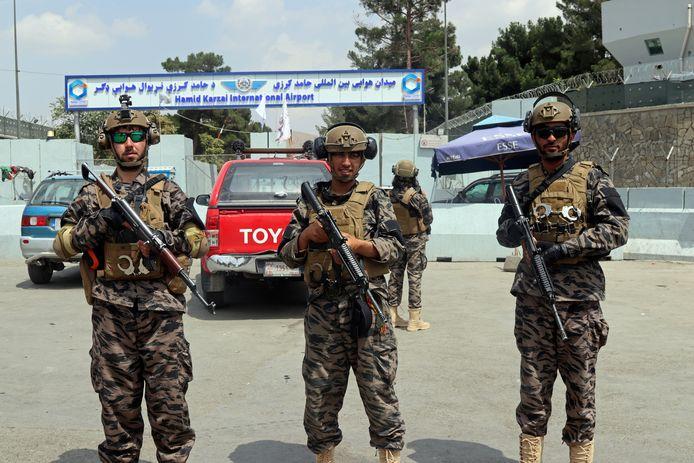 De luchthaven van Kaboel is nu in handen van de taliban.