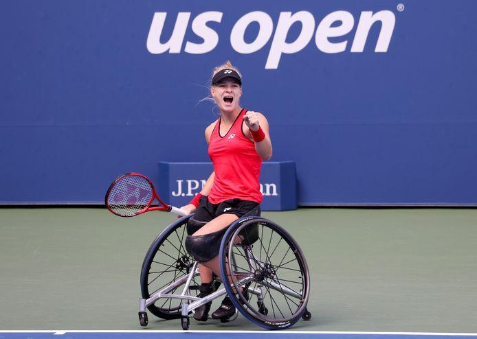 Rolstoeltennisster Diede de Groot won voor de derde keer de US Open.
