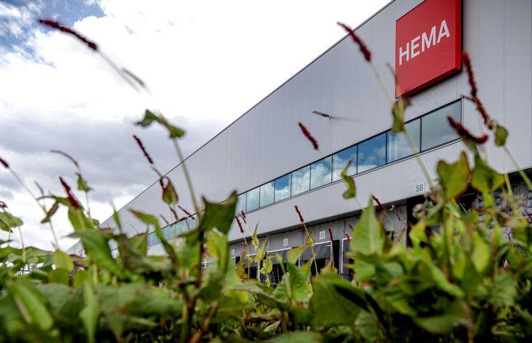 Het distributiecentrum van Hema in Nieuwegein. Achter de schermen woedt een overnamestrijd. Beeld ANP