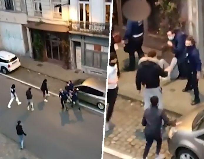 Gisteren raakten drie agenten gewond bij een coronacontrole in Elsene.