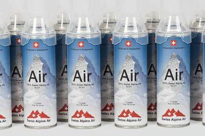 Zwitsers bedrijf verkoopt lucht. Letterlijk