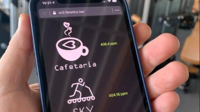 Primeur in Mortsel: fitness-klanten kunnen via app CO2-waarden in realtime bekijken