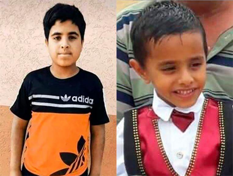 De neefjes Hamada en Ammar al-Emour kwamen net terug van de kapper. Beeld NYT