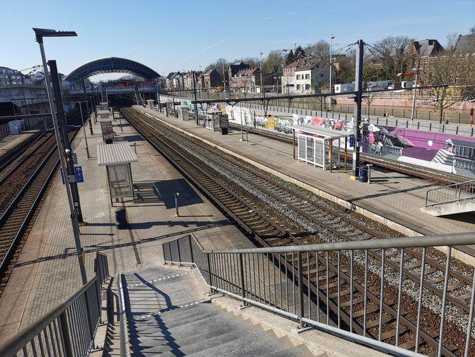 Het incident deed zich voor in het station van Halle.