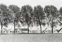 De historische Loswalweg met daarachter de  nieuwe huizen aan het Van Doesburg-erf.