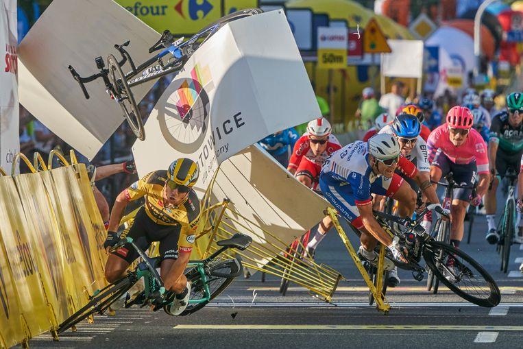 De 27-jarige Groenewegen was geschorst voor zijn rol in de zware valpartij in de Ronde van Polen vorig jaar. Beeld AP