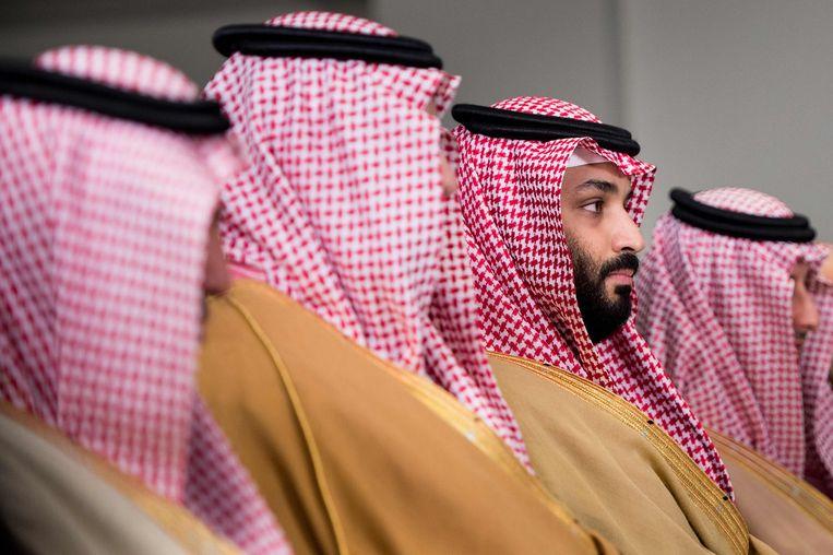 Kroonprins Mohammed bin Salman in Washington. Beeld AFP