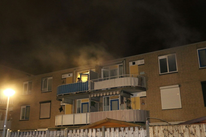 Woningbrand aan de Besterd in Oosterhout.
