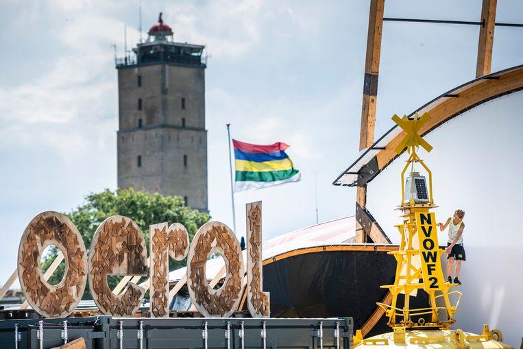 Het theater- en muziekfestival Oerol wordt jaarlijks in juni gehouden op Terschelling. Dit jaar heeft de organisatie een alternatief online-programma samengesteld onder de titel Het Imaginaire Eiland. Beeld ANP Kippa
