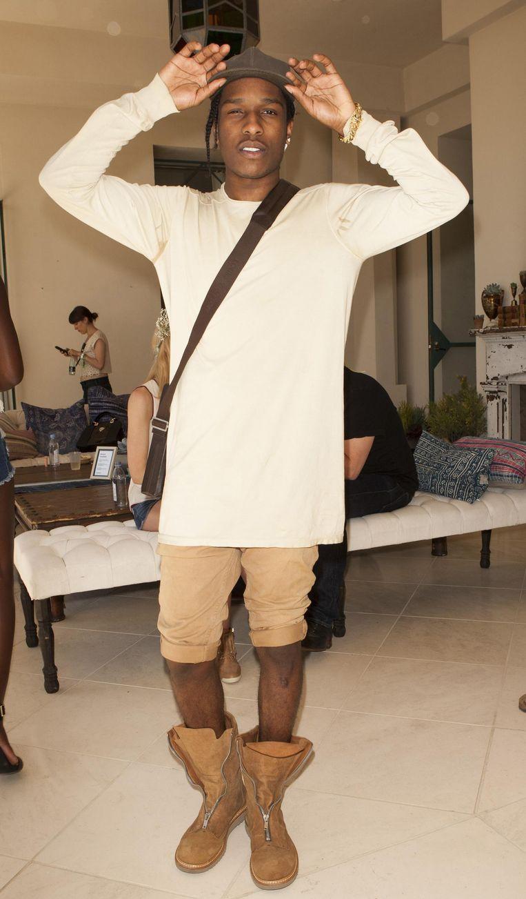 Rapper A$AP Rocky op het Coachella festival in Californië. Beeld getty