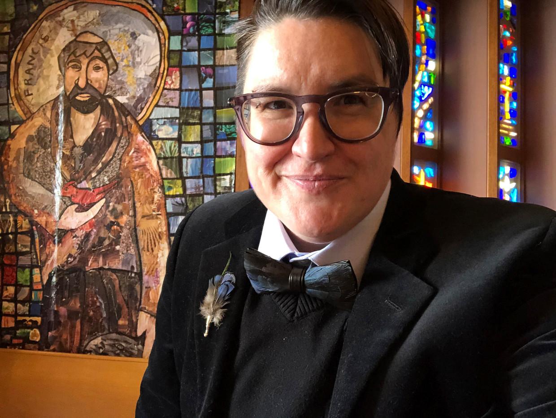 Megan Rohrer maakt zich sterk voor rechten van lhbti'ers en doet veel werk voor daklozen. Beeld AP