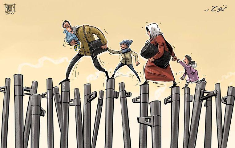 Het Arab Cartoon Festival slaat een brug tussen ons en de Arabische wereld. Beeld rv YASER AHMAD
