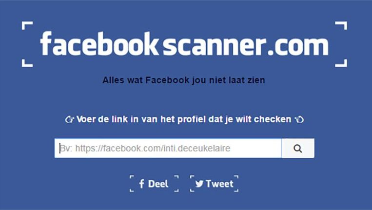null Beeld facebookscanner.com