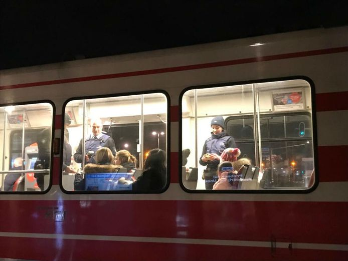 Liever met de tram naar het Nationaal Aftelmoment.