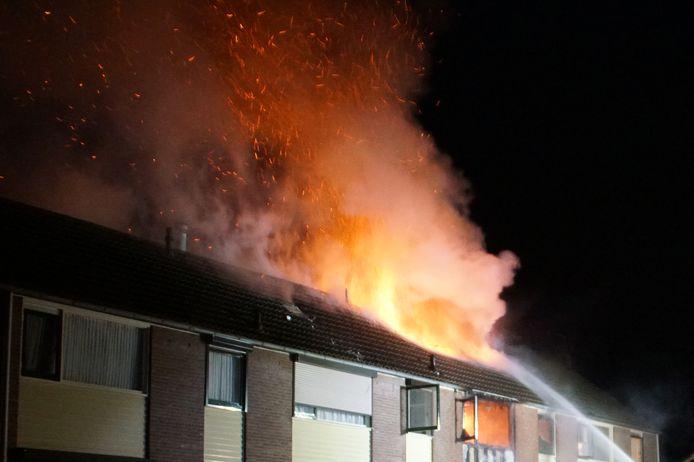 De brand aan de Hoge Blik in Neede in de zomer van 2018