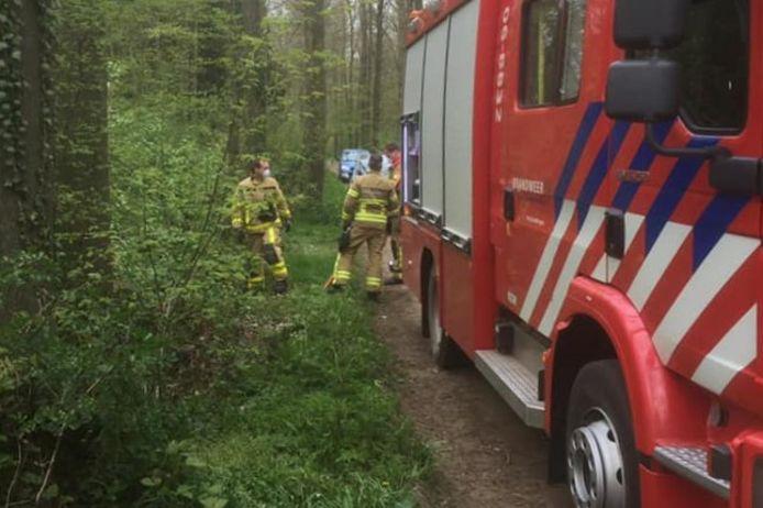 De brandweer kon de man uit de sloot redden